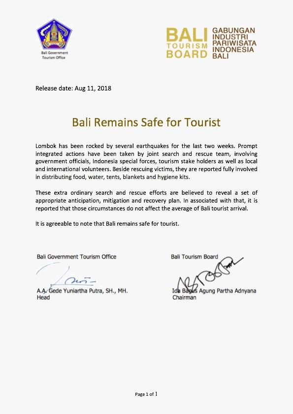 Official Bali Tourism Board Website